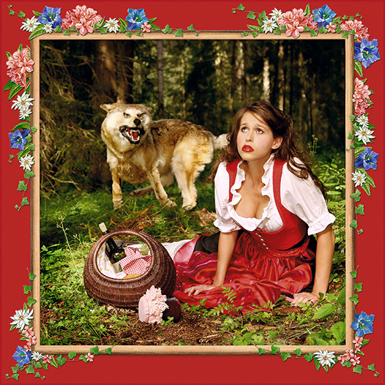 LITTLE RED RIDING HOOD, 2008 - 120x120 cm