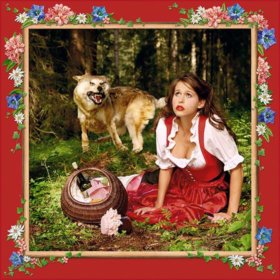 Photokunst Little Red Riding Hood aus der Werkreihe Heimatliebe