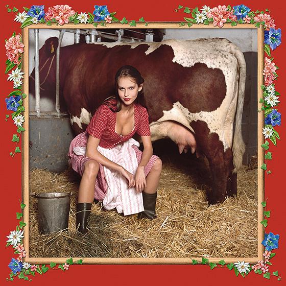 Photokunst The Milkmaid aus der Werkreihe Heimatliebe