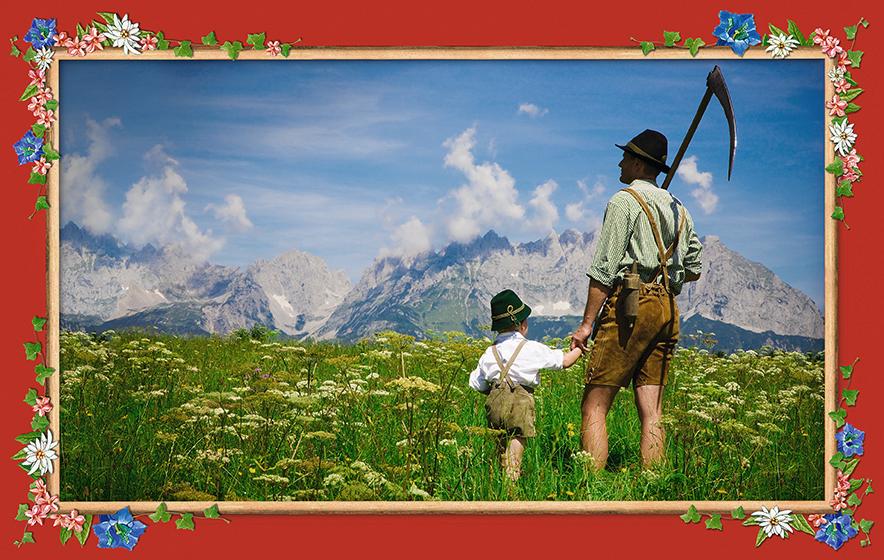 Photokunst Father and Son aus der Werkreihe Heimatliebe