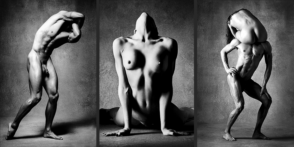 BODY SCULPTURES Classic Black and White Nude Photography©sarosdy