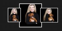 Damenportrait mit Hund ©Sarosdy